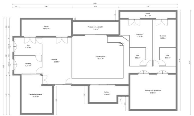 Plan maison 300m2 best plans pour une petite salle de for Plan maison 300m2
