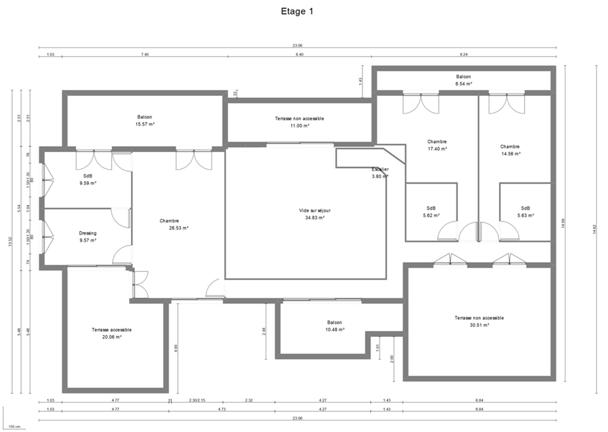 plan de maison 300m2